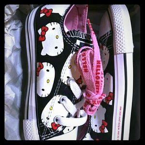 Hello kitty toddler chuck taylors